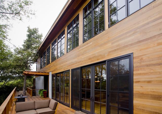 Fulcrum structural engineering rustic exterior san for Structural engineer for houses