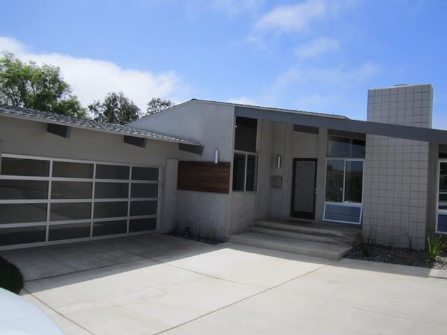 Full View Garage Door Modern Exterior San Diego By