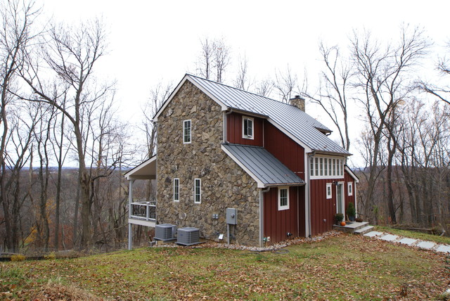 Furnace mountain custom modular farmhouse exterior for Modular farmhouse