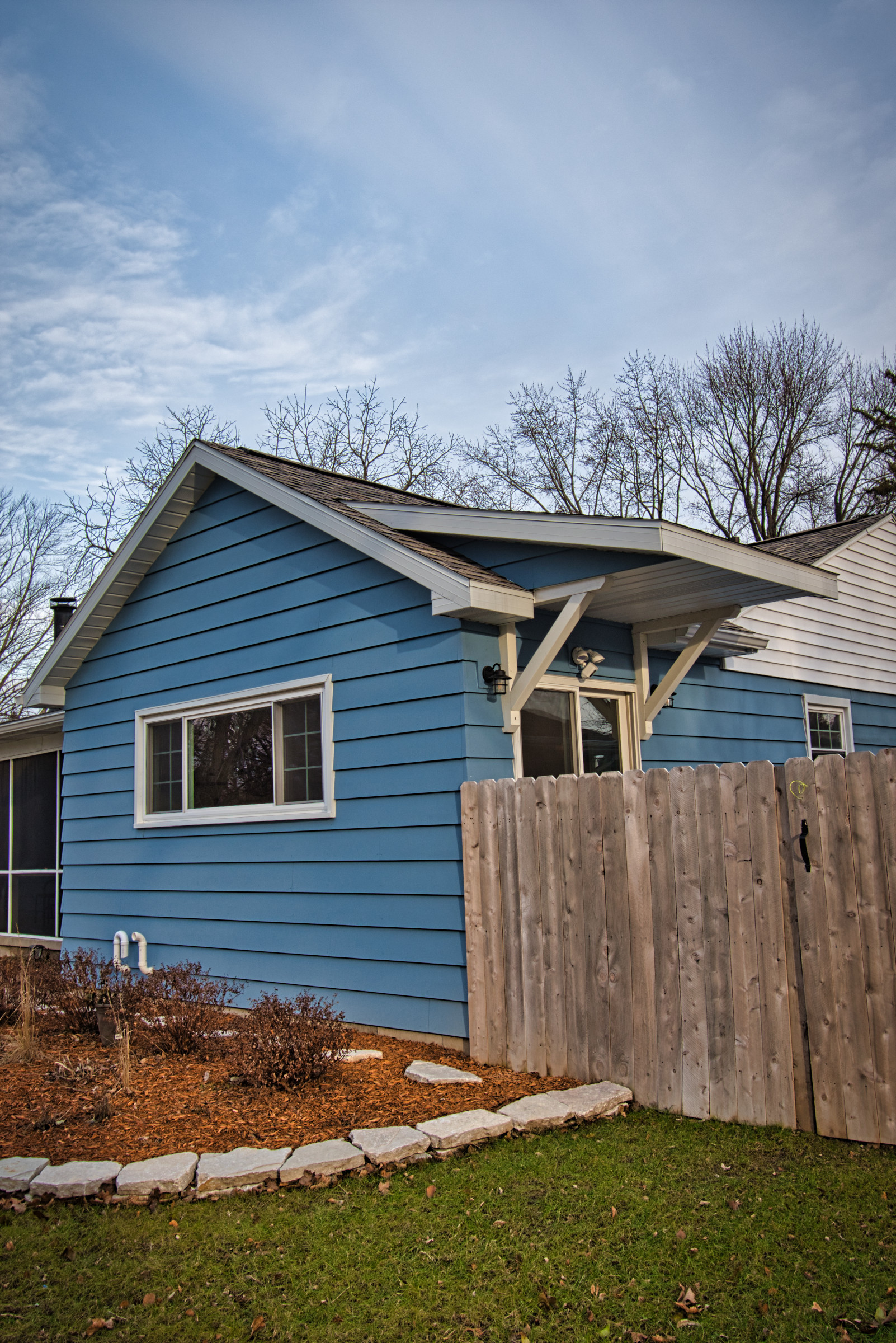Gable Addition and Side Porch Canopy