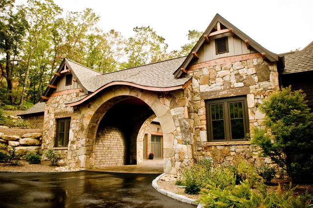Gabriel builders craftsman exterior other by for Porte cochere homes