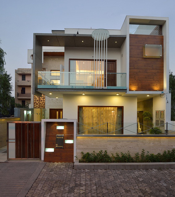 30 Contemporary Home Exterior Design Ideas: GAJENDRA YADAV'S RESIDENCE
