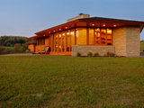 midcentury exterior Houzz Tour: Usonian Inspired Home With All the Wright Moves (18 photos)