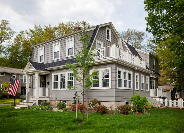 Gambrel Addition Traditional Exterior Boston By William Finnerty Architect Llc