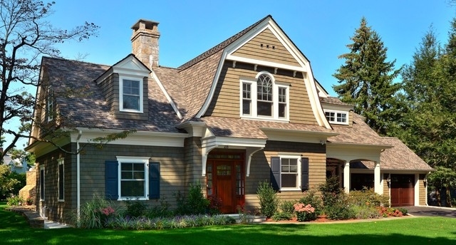 Gambrel Shingle Style Traditional Exterior New York on Stucco Home Plans And Designs