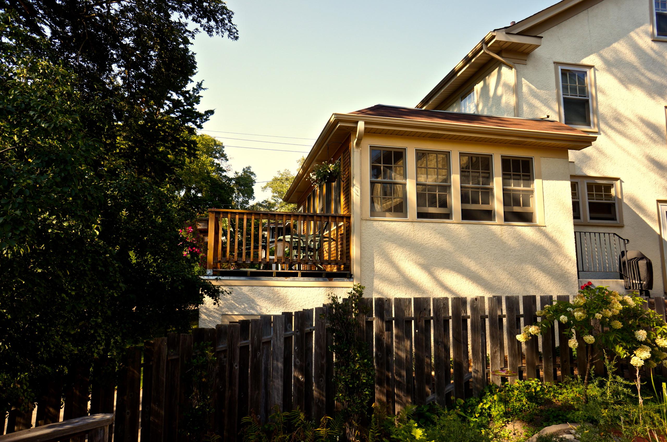 Garage Addition with 3 Season Porch