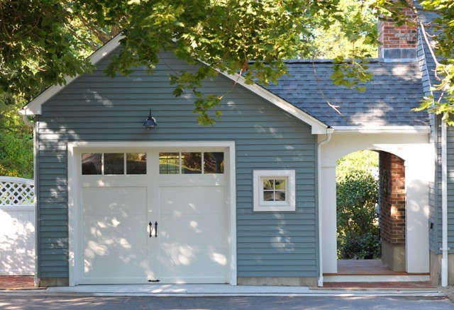 Garage and breezeway addition traditional exterior for House plans with breezeway between house and garage