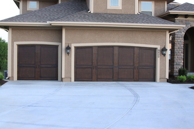 Garage doors traditional exterior kansas city by for Garage door finishes