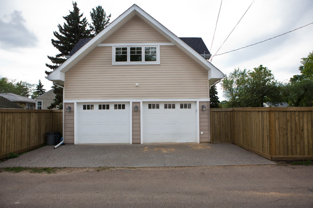 garage suite craftsman exterior edmonton by