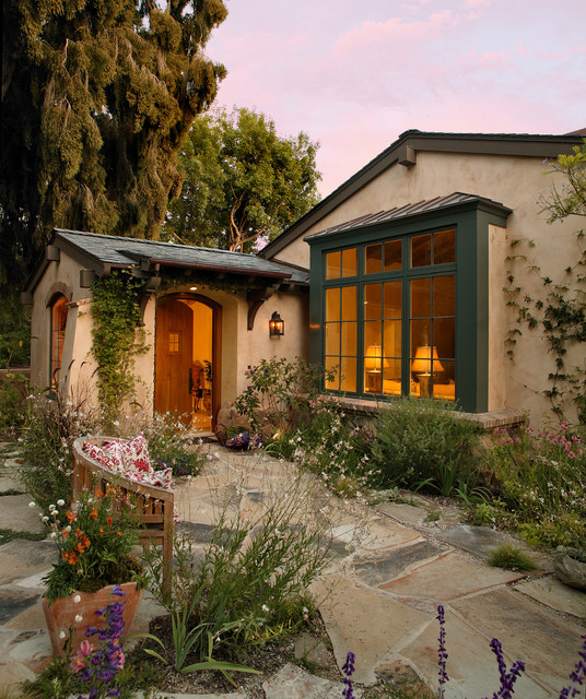 Garden cottage mediterranean exterior santa barbara for Mediterranean modular homes