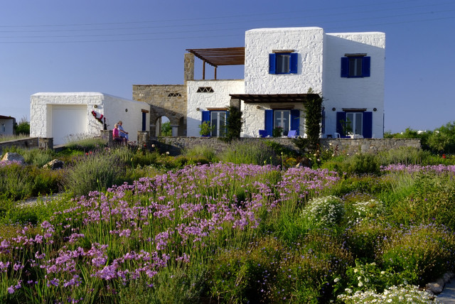 Garden design in Greece on the island of Paros mediterranean exterior
