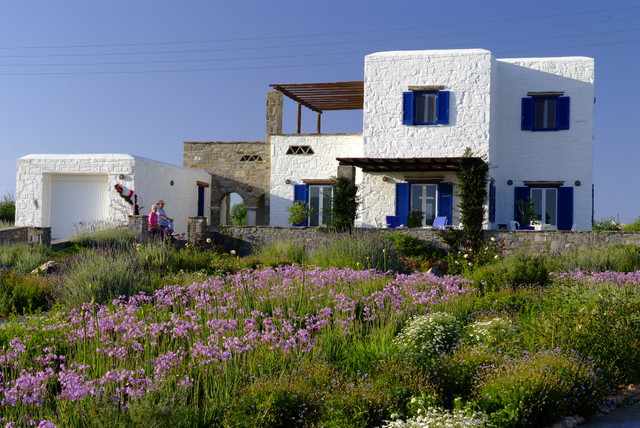 Garden design in greece on the island of paros eclectic exterior