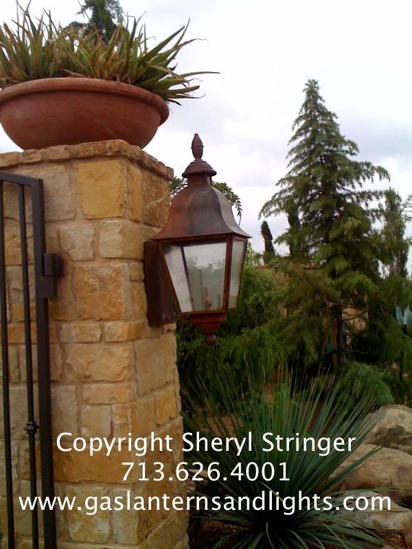 Gas Lanterns On Columns
