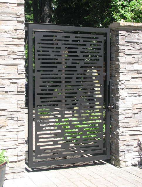 Gate designs modern gate and fence designs for Modern house gate