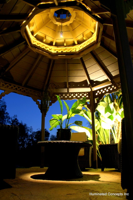 Gazebo lighting traditional-exterior