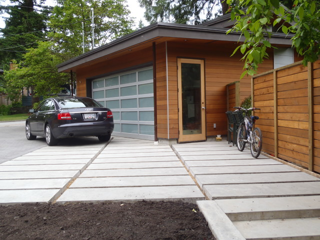 Geometric House - Detached Garage contemporary-exterior