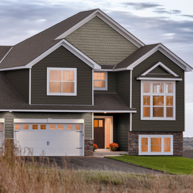 Exterior Home Siding Ideas Part - 50: Georgia-Pacific® Compass Vinyl Siding Traditional-exterior