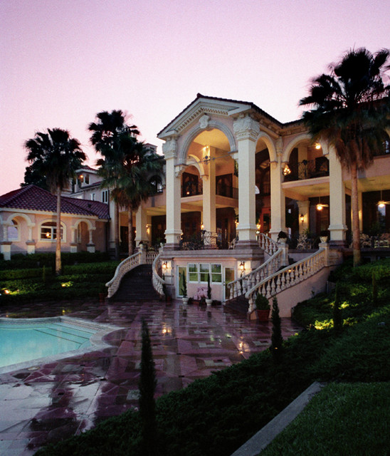 Gilded Age Great Gatsby inspired Fantasy Manor: Mere Bella traditional-exterior