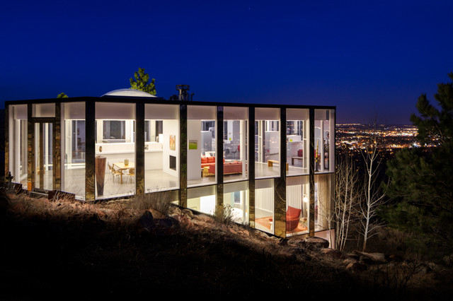 Glass House Boulder Co Contemporary Exterior Denver By Nyceone Photography