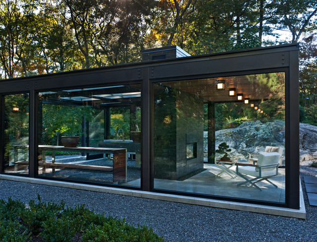 Glass House In The Garden Modern Exterior Boston