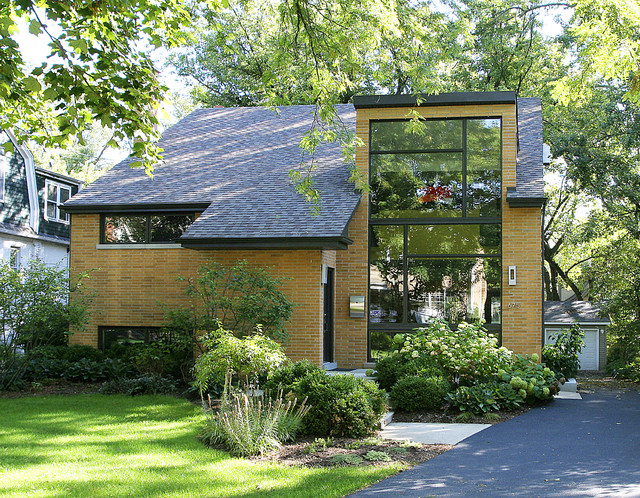 Glen ellyn addition contemporary exterior chicago for Split level additions