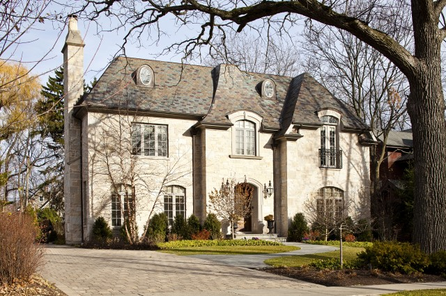 Slate Stone Elevation : Glencoe residence front elevation traditional