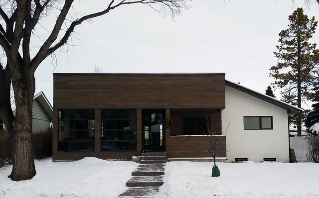 Glenmorgan Addition Home Renovation Modern Exterior Calgary By