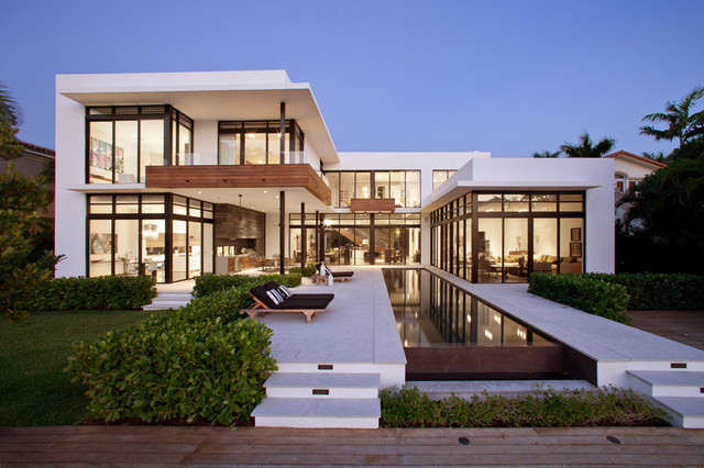 Golden beach contemporary exterior miami by - Residence calistoga strening architects californie ...