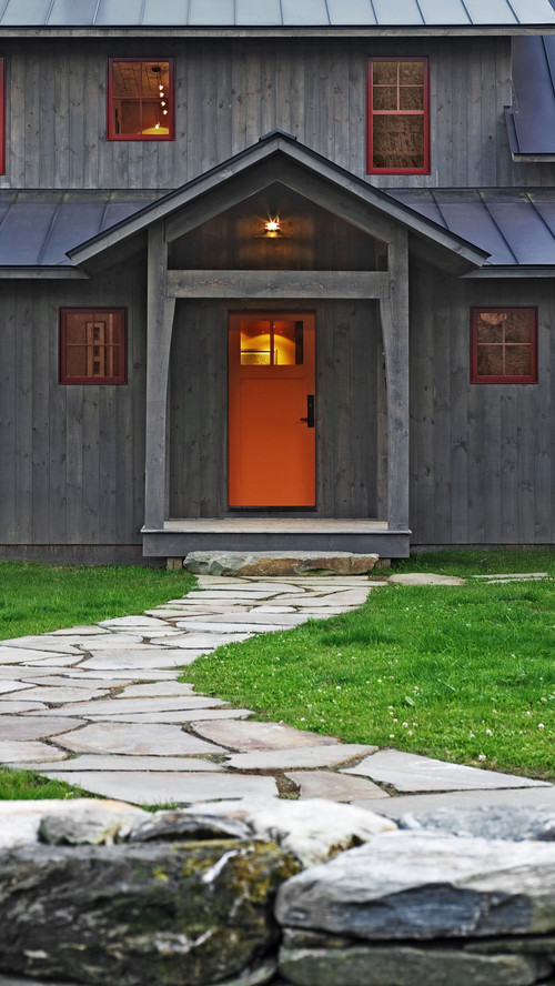 rustic exterior Color of the Month: Decorating with Orange