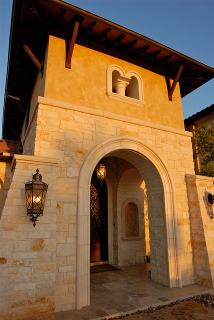 Gorgeous Transitional Tuscan home in Boerne's Hill Country mediterranean-exterior