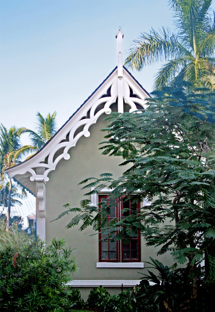 Gothic Garage traditional-exterior