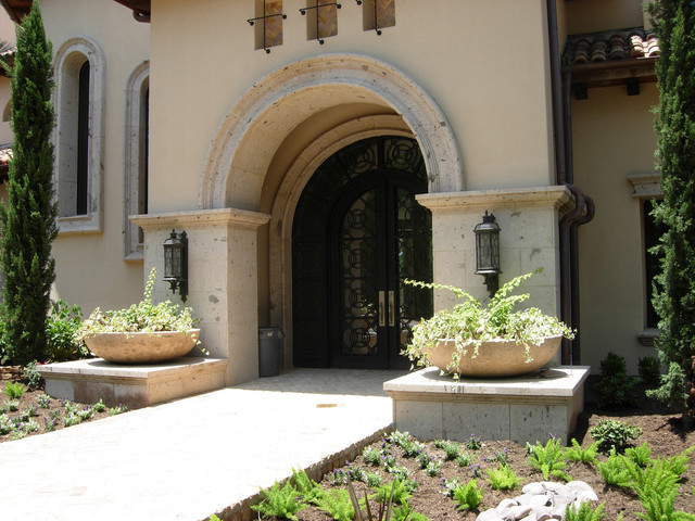 Grand Entrance Mediterranean Exterior Houston By