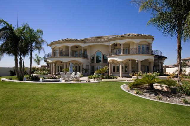 Grand mediterranean estate mediterranean exterior for Grand home designs inc