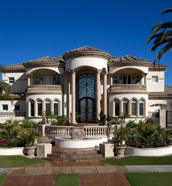Grand mediterranean estate mediterranean exterior Design house inc