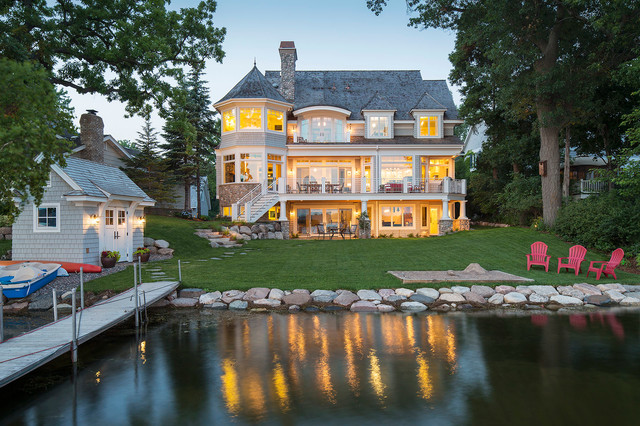 Gray's Bay Lake Minnetonka - Beach Style - Exterior - other metro - by L. Cramer Builders ...
