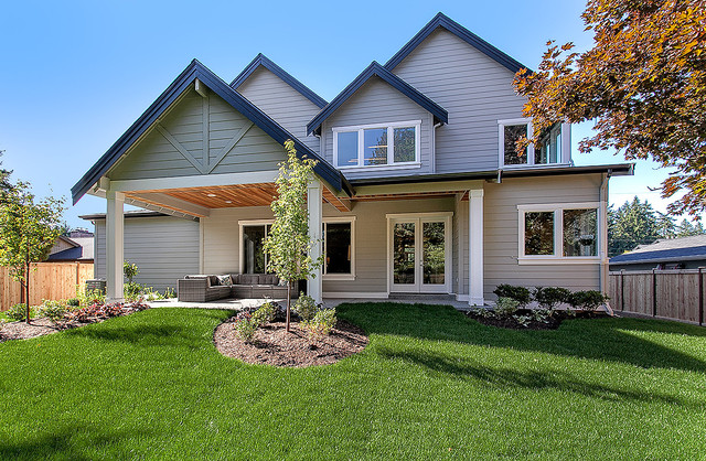 Greater seattle area the bodrum exterior traditional for Seattle area home builders