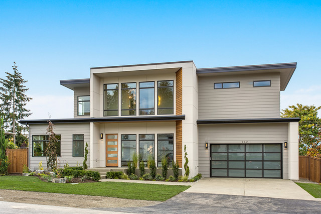 Greater seattle area the oslo exterior contemporary for Seattle area home builders