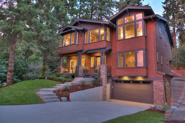 Greater seattle area the roma craftsman exterior for Seattle area home builders
