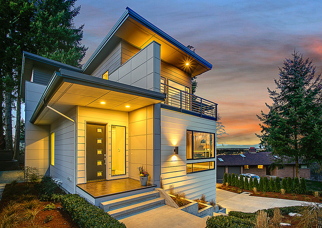 Greater seattle area the seoul modern exterior for Seattle area home builders