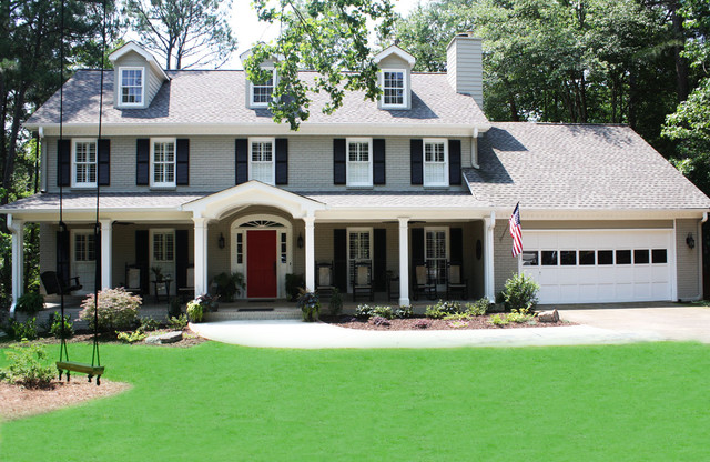 Green basements remodeling exterior traditional - Black and grey house ...