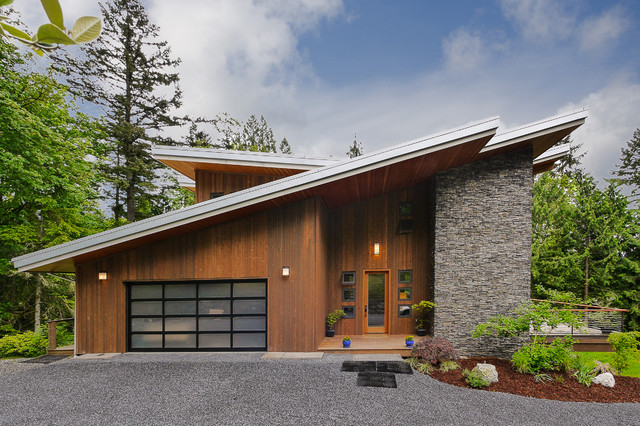 Front Elevation Slanting Roof Design : Green built modern contemporary exterior seattle