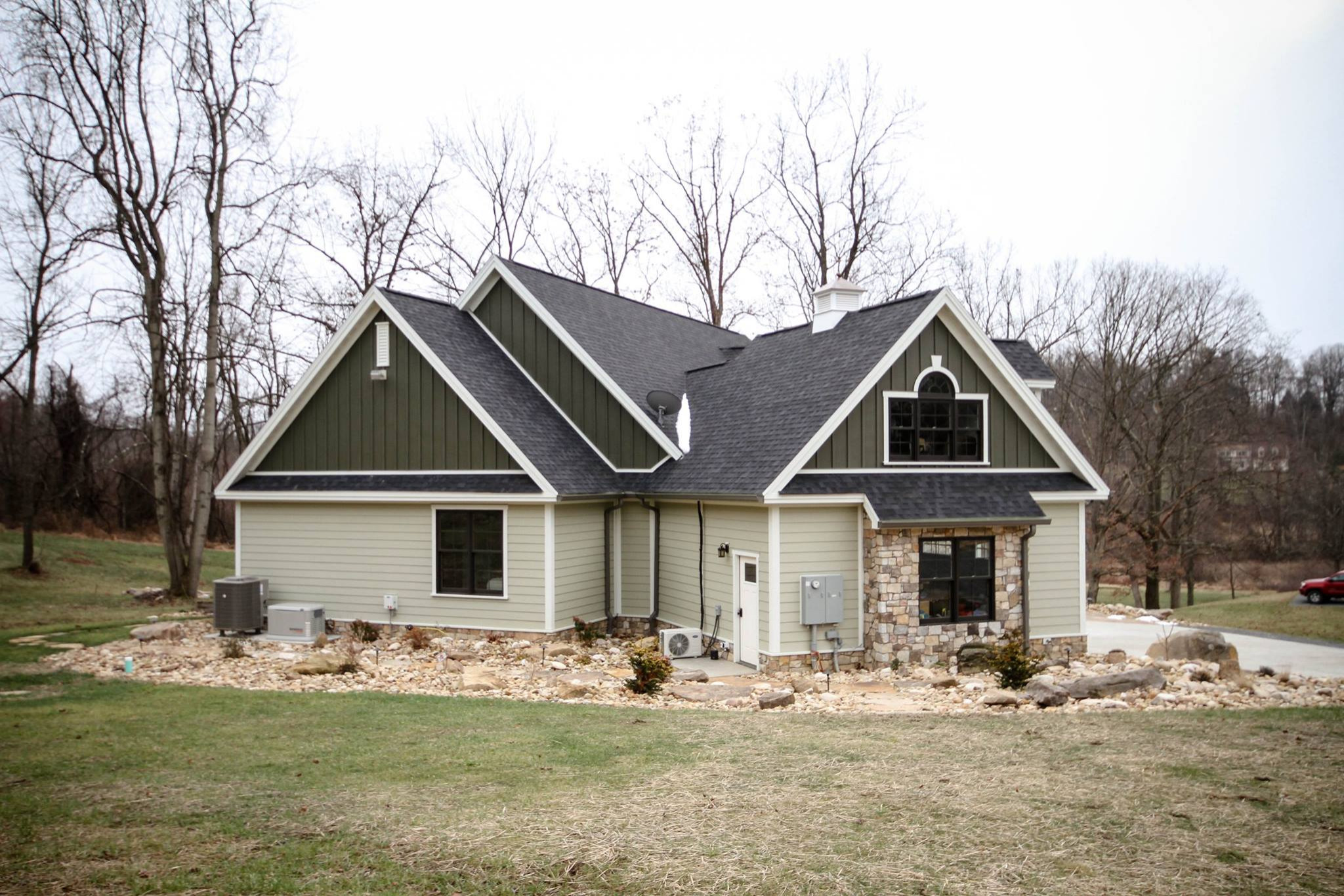 Green Earth Tone Exterior  - Craftsman Style Home