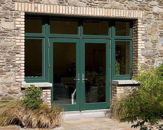 Green Exterior Door -