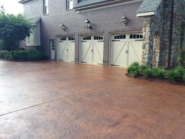 Greenville Sc Concrete Driveway Craftsman Exterior