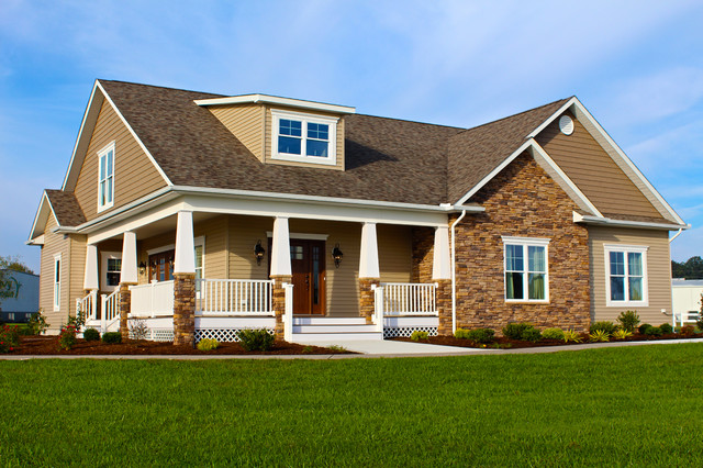 Greenwood craftsman model exterior beracah homes for Prefab arts and crafts homes