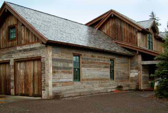 Grey - Brown Antique Barn Siding - Traditional - Exterior ...