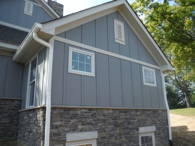 Grey Slate Hardie Shingle Board amp Batten Siding Creve