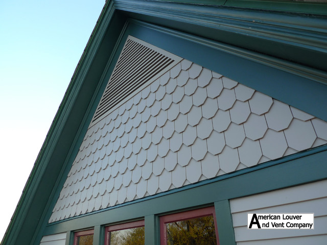 Nice Grey Triangle Gable Vent Traditional Exterior