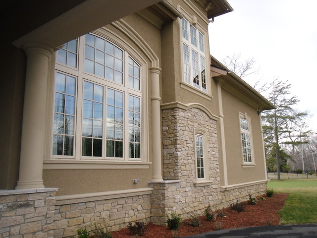 Guzzo stucco commercial residential projects for Concrete block stucco