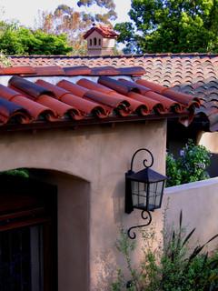 Hacienda Roof Details Mediterranean Exterior Santa
